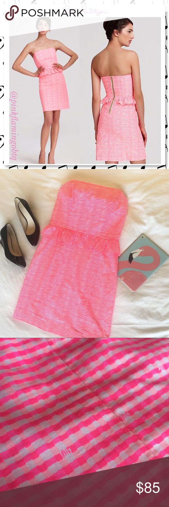 ⬇ $79 Lilly Pulitzer Lowe Dress Fiesta Pink Gingha