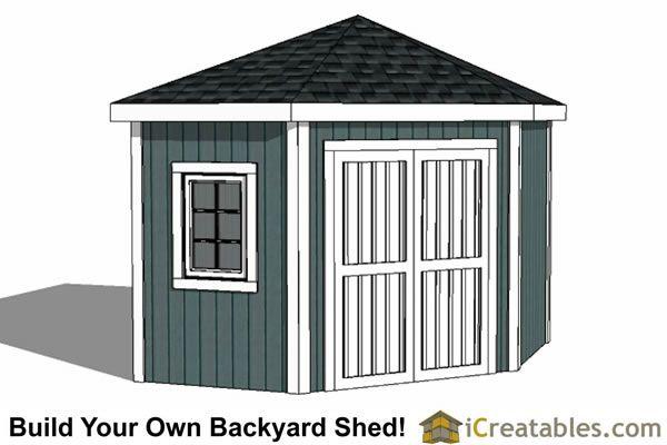 10x10 5 Sided Corner Storage Shed Plans Corner Sheds Shed Plans Storage Shed Plans
