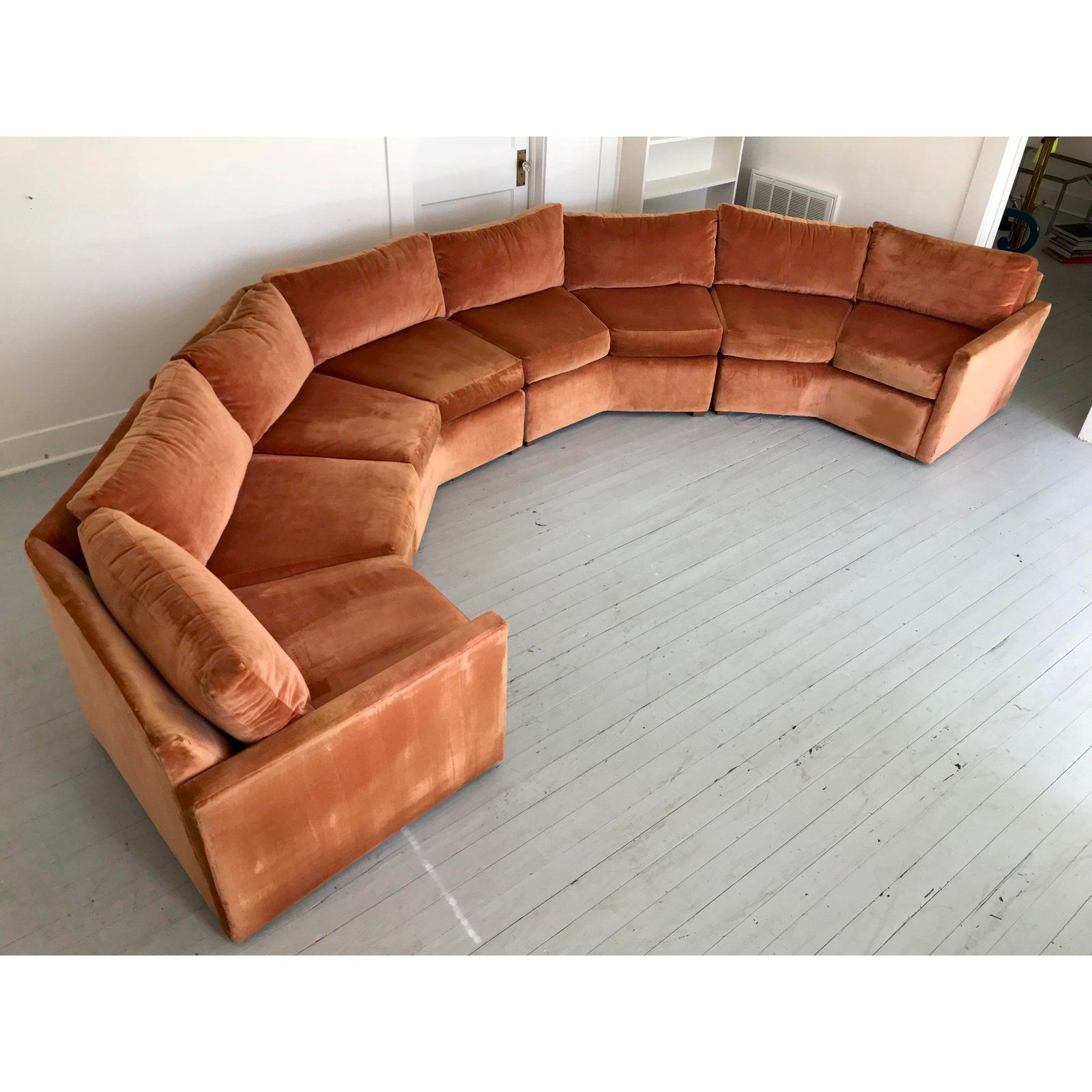 Awesome 1970S Mid Century Modern Bernhardt Flair Curved Hexagon Caraccident5 Cool Chair Designs And Ideas Caraccident5Info