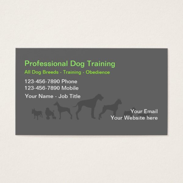 Dog Trainer Business Cards Zazzle Co Uk Dog Training