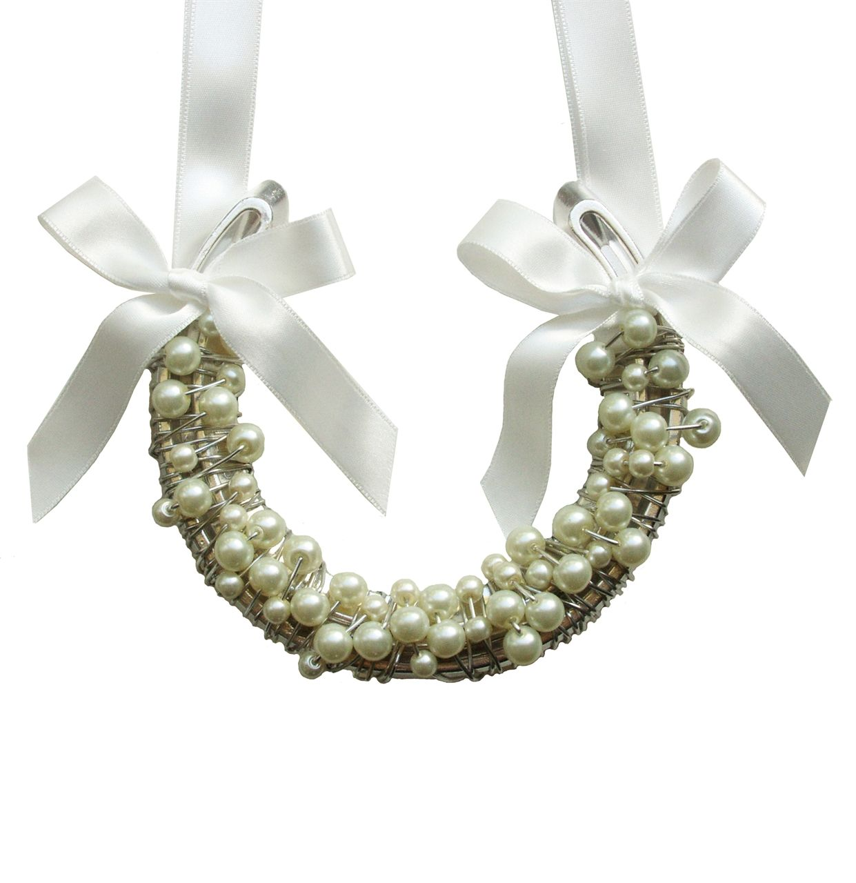 Horseshoe Wedding Gift: Pearl Lucky Irish Wedding Horseshoe