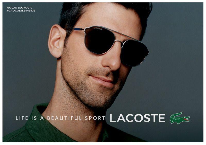 Lacoste Unveils Novak Djokovic Sunglasses Collection Lacoste Sunglasses Novak Djokovic
