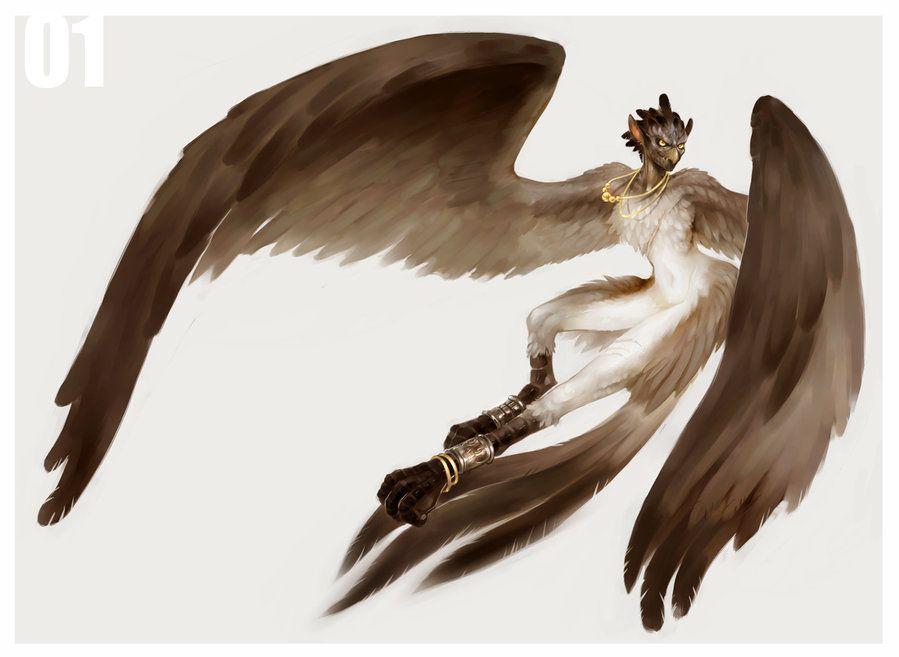 Картинка мужчина с крыльями хвостом когтями
