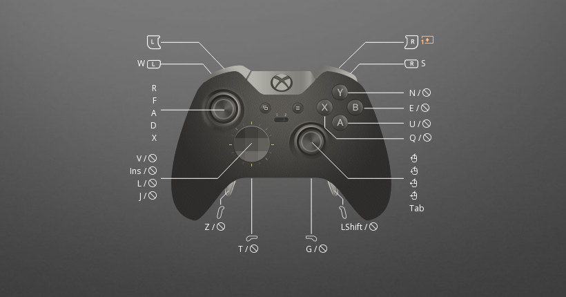 This Elite Dangerous controller layout is best to use with Xbox