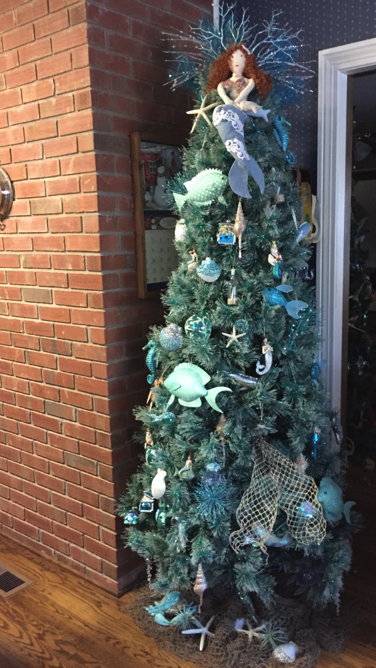 Under The Sea Tree Christmas Tree Themes Mermaid Christmas Mermaid Christmas Tree