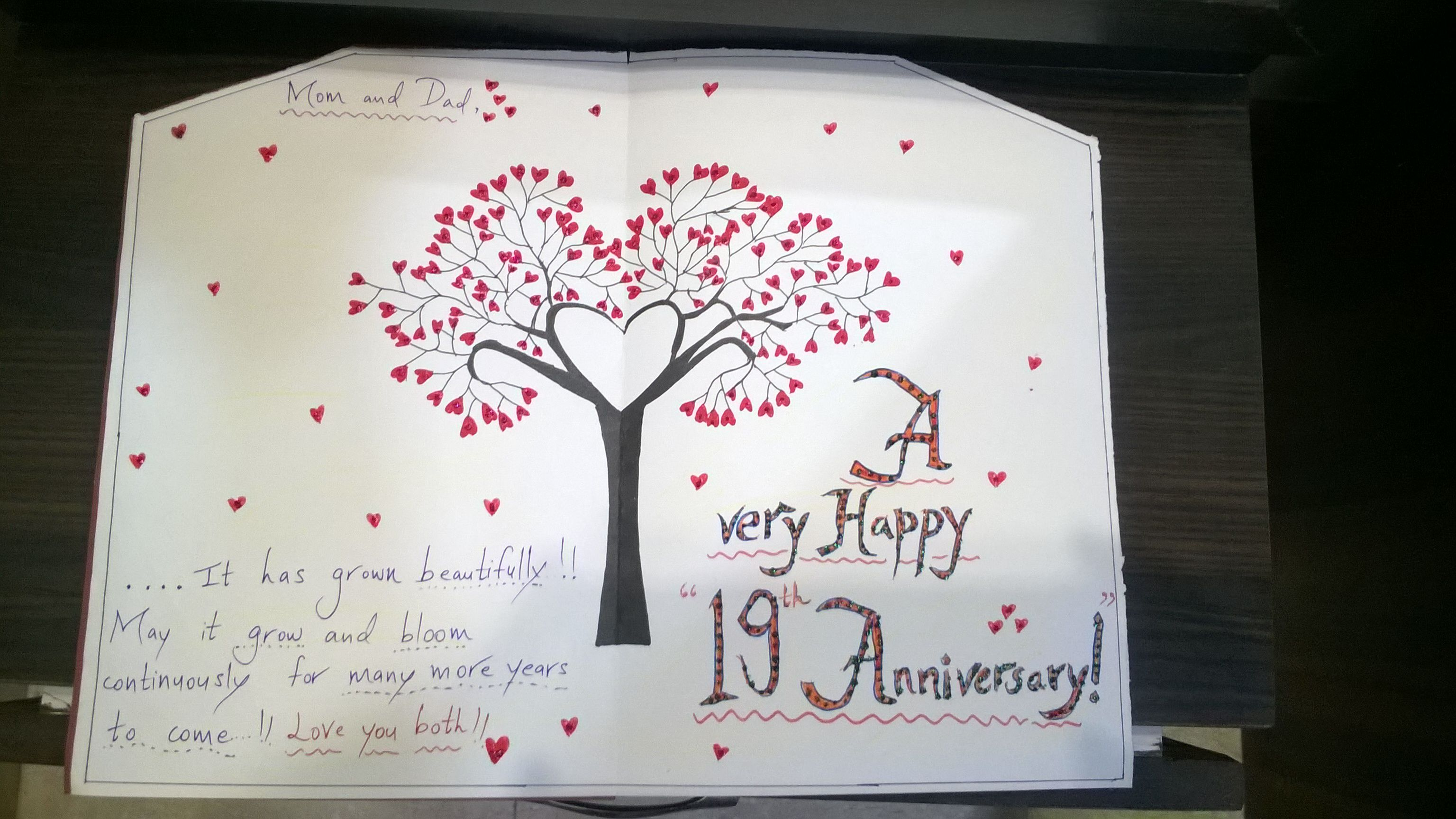 Happy 19th Wedding Anniversary Mom Dad! 😊
