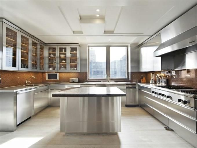 stainless steel kitchen cabinets | Gray Kitchens | Stainless ...