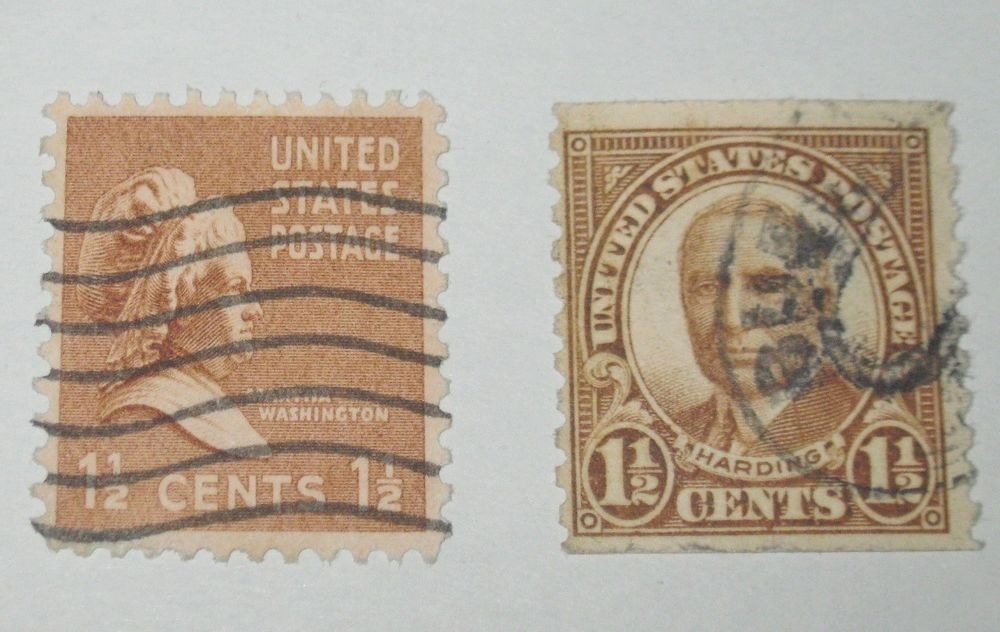 US Postage Stamp 1 2 Cent One And A Half Harding Martha Washington