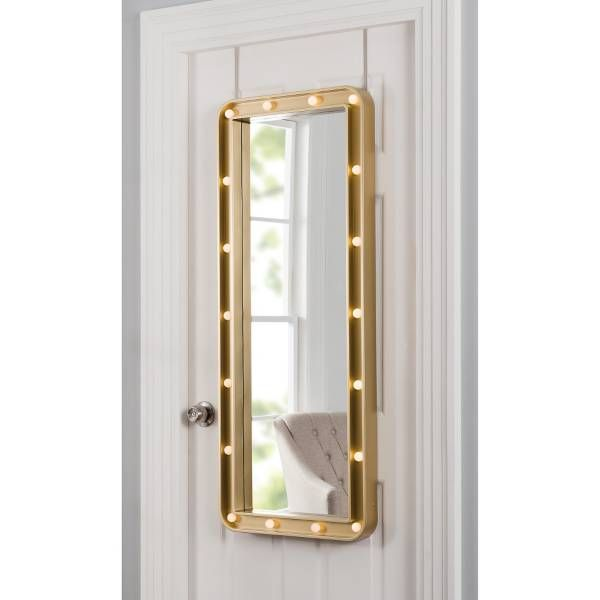 Bon Product Image For Light Up Marquee 19.25 Inch X 47.75 Inch Over The Door  Mirror 2 Out Of 3