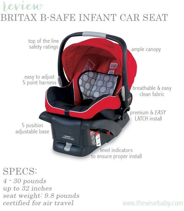 Britax B Safe Infant Car Seat Review Baby Car Seats Safest Car
