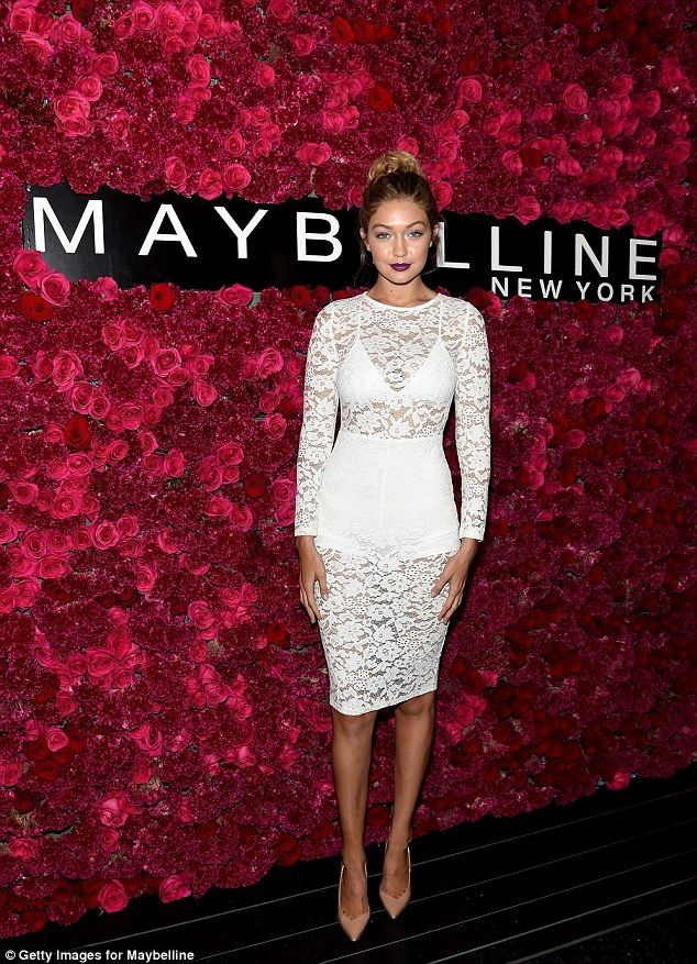 Lovely In Lace Gigi Hadid Put Her Bodacious Figure On Full Display A Sheer Dress As Sh
