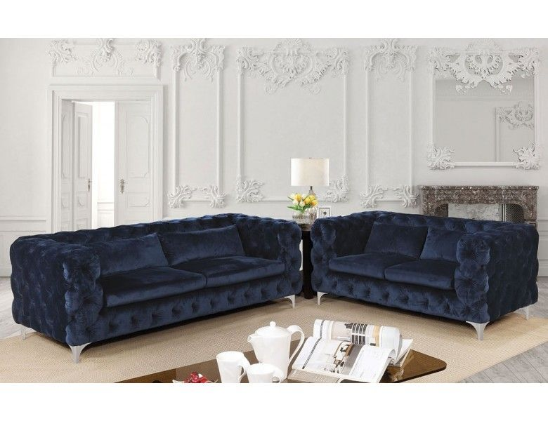 Remarkable Delilah Modern Chesterfield Sofa Navy Velvet In 2019 Gmtry Best Dining Table And Chair Ideas Images Gmtryco