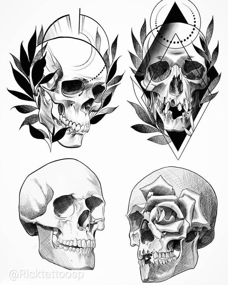 Skull Tattoos Design Watercolor Tattoos Diseno De Tatuaje De Calavera Tatuajes De Carabelas Calaveras Tatuajes