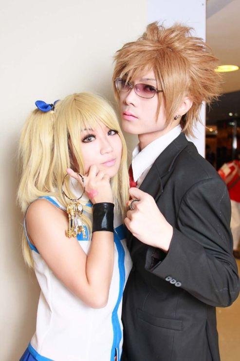 Lucy And Leo The Guy Did A Really Good Job With The Wig Best Leo Cosplay I Ve Seen Fairy Tail Cosplay Cosplay Couples Cosplay