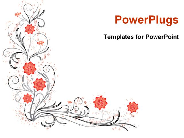 PowerPoint Template Displaying Abstract Floral Pattern Design With ...