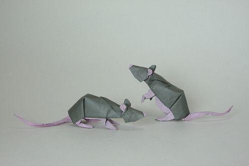 Robert J. Lang rat, opus159 diagrams in the book Origami Zoo(画像 ... | 333x500