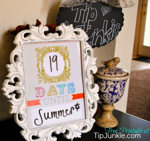 Bohemian Count Down Template free by print it Pinterest