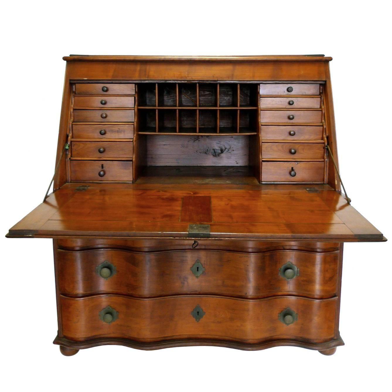 19th Century Swiss Drop Leaf Secretary Desk And Chest
