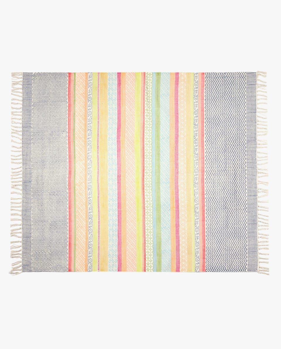 7558df52 Image 1 of the product BLOCK PRINT RUG | baby room girl in 2019 ...