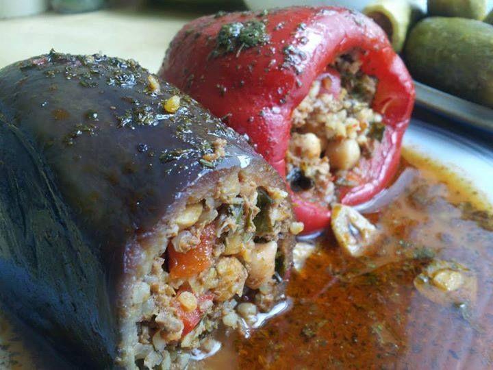 المطبخ الحلبي محشي البرغل ملك المحاشي Syrian Food Easy Healthy Recipes Arabic Food