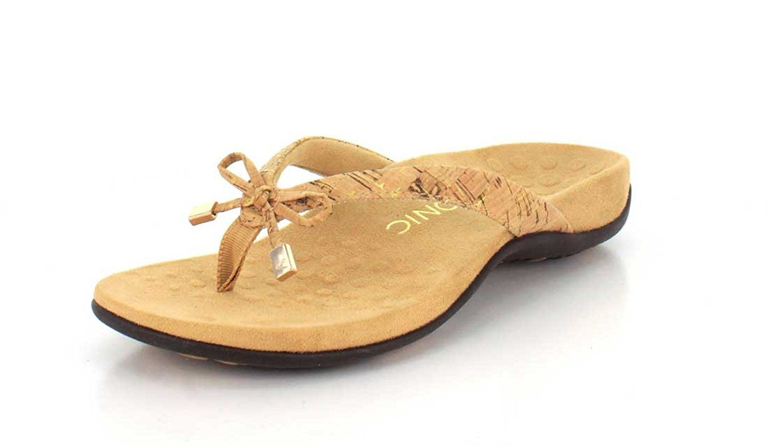 94aff21bd2f433 Vionic Bella - Womens Orthotic Thong Sandals Gold Cork - 9 Medium    Find  out more about the great product at the image link. (This is an affiliate  link)   ...