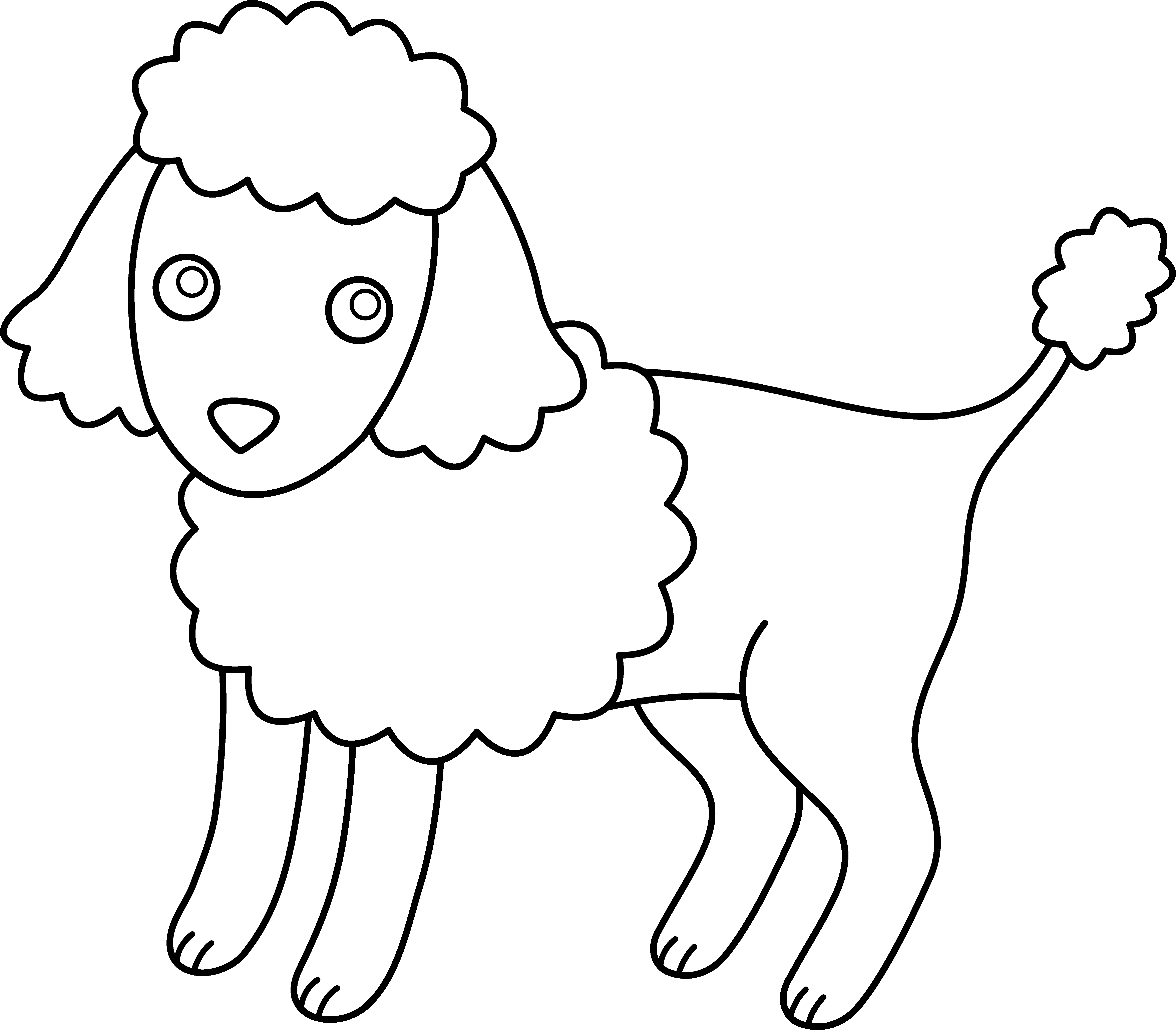 Coloring Pages Of Cpoodle Dogs Cute Poodle Coloring Page