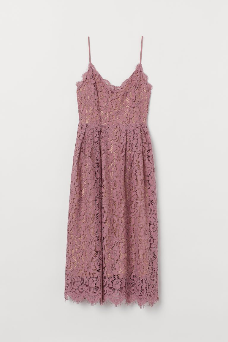 Lace Dress Dusty Rose Ladies Spitzenkleider Kleid Altrosa Kleider