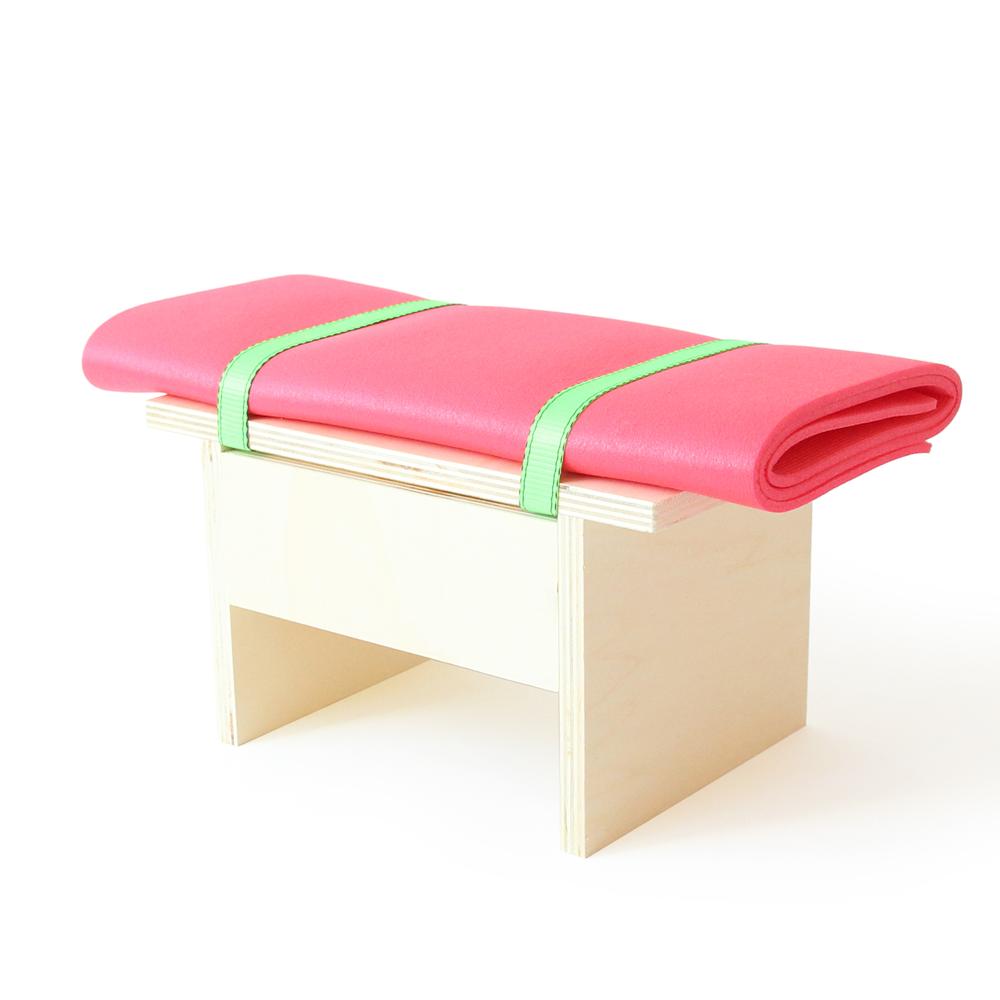 Benchi Petit By Barbadine Design Plywood Stool From The Benchi  # Muebles Codigo Abierto