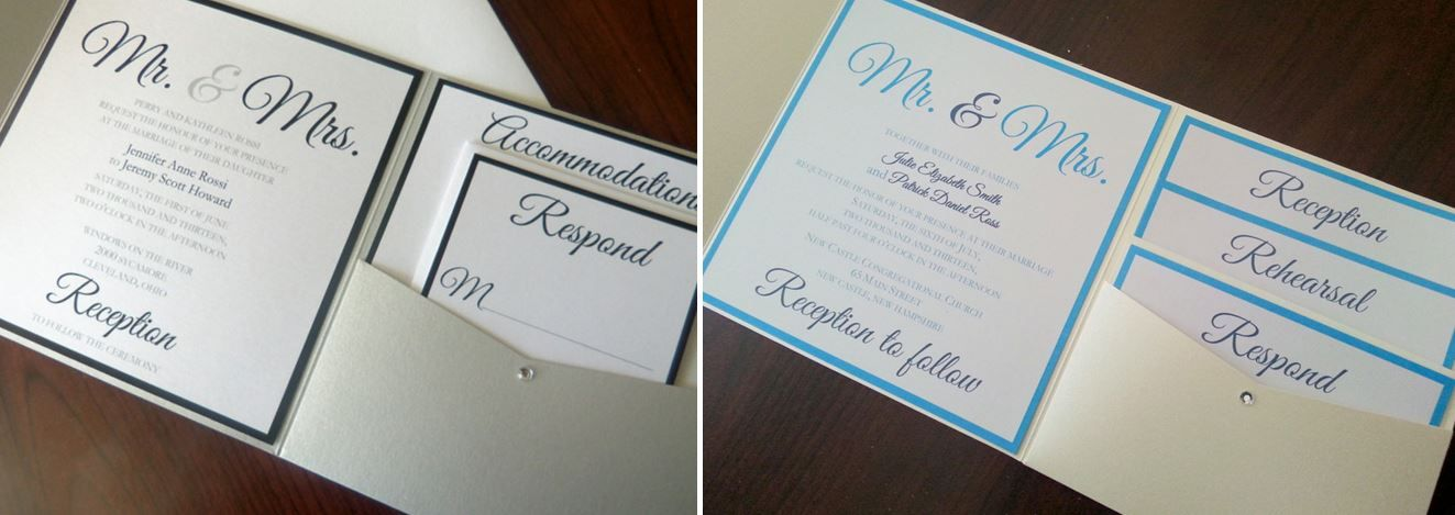 Before  After - Bride\u0027s Design - Mr and Mrs Pocketfold Wedding