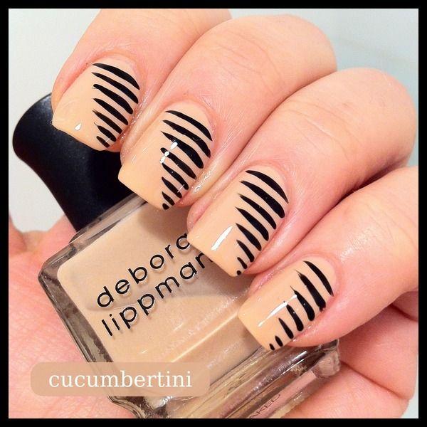 striped nude