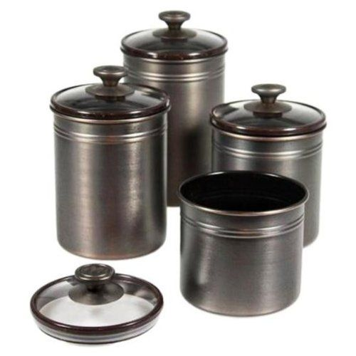 Kamenstein Brushed Bronze Canister Set By Kamenstein 30 28 Seal