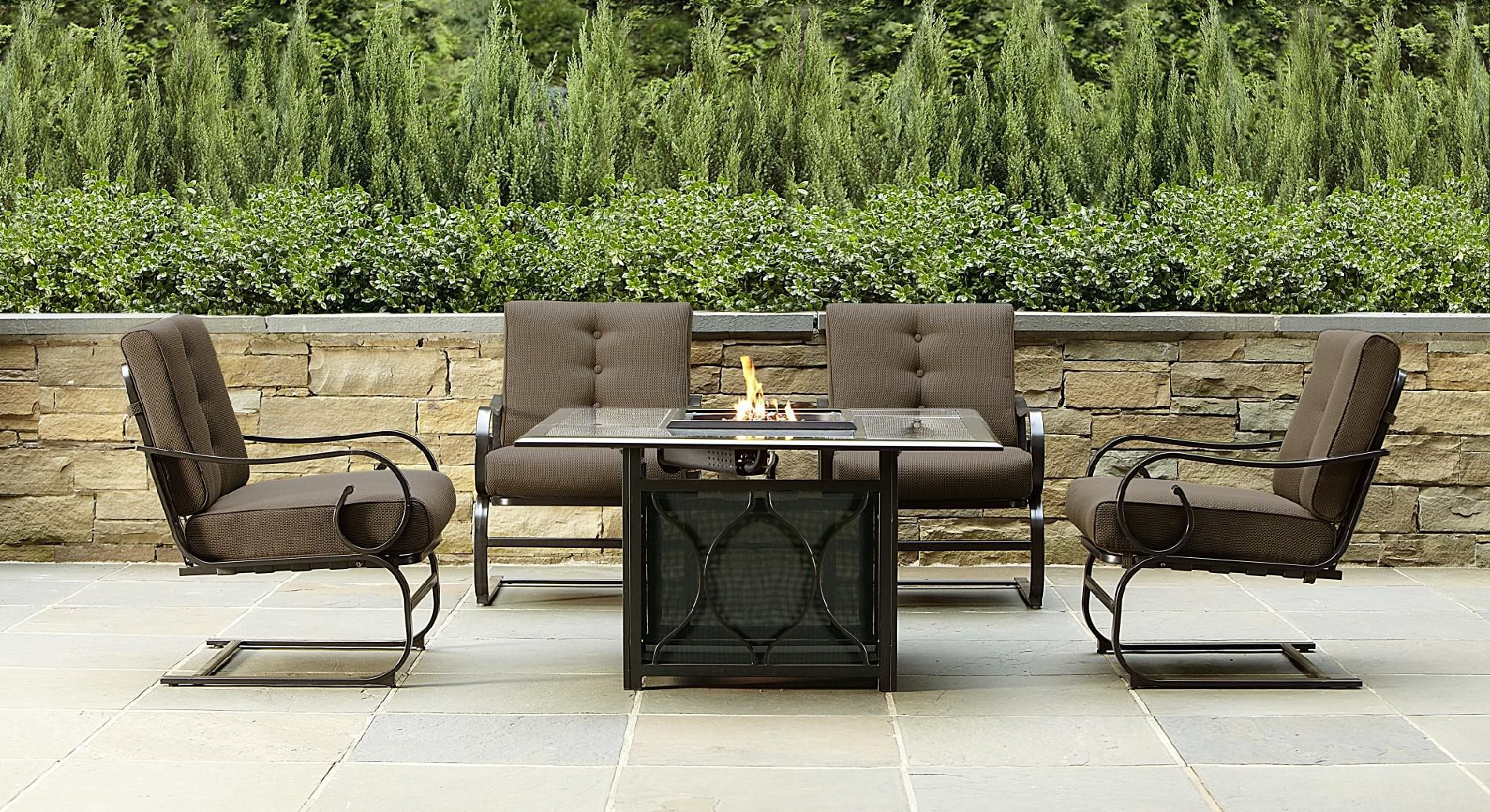 Smoky Hill 5pc Gas Firepit Cozy Up to the Fire at Sears