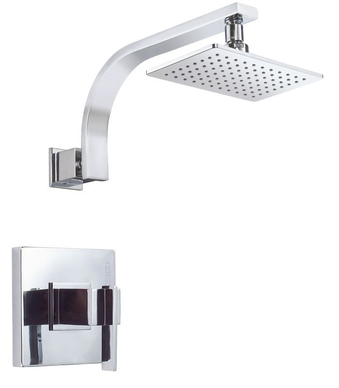 Danze D510544T Pressure Balanced Shower Trim Package with Single Function Rain S Chrome Faucet Shower Only Single Handle