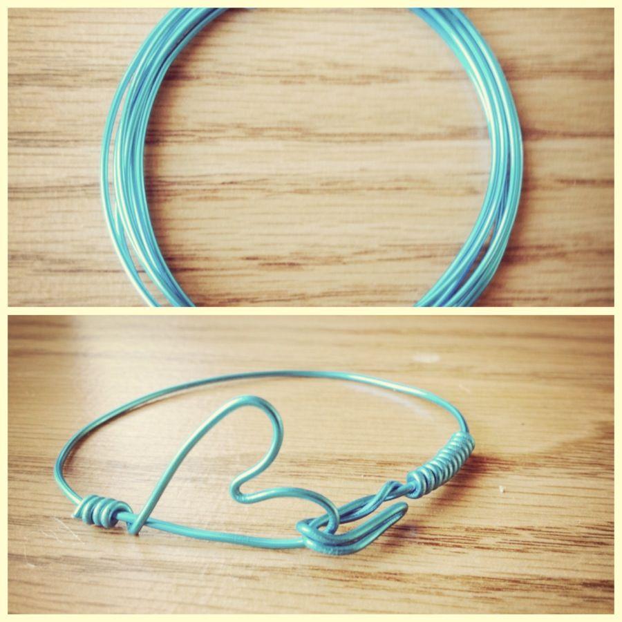 DIY Heart Wire Bracelet :]