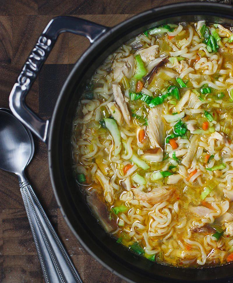 Thai Ramen Noodle Chicken Soup | SoupAddict