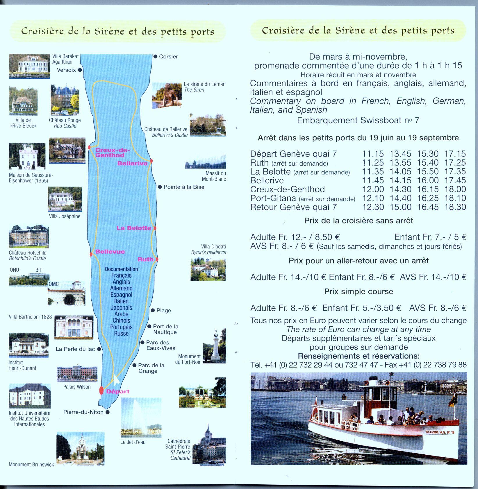 Transport sur le Lac Léman - Mouettes Genevoises Navigation - Swiss Boat on Geneva Lake