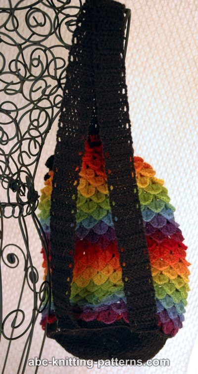 Abc Knitting Patterns Rainbow Dragon Backpack Crochet Bags
