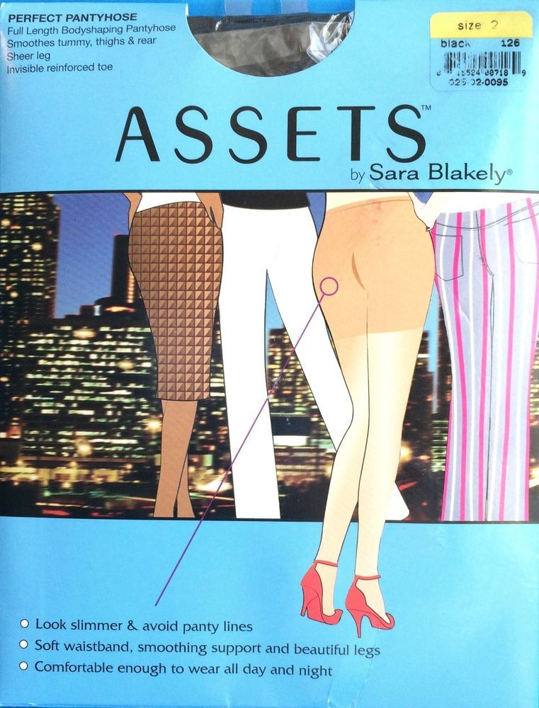 ed90a887702aa Assets by Sara Blakely Shapeware Pantyhose Black Size 2 120-150 Lb Slimming  New #AssetsbySaraBlakely #Pantyhose