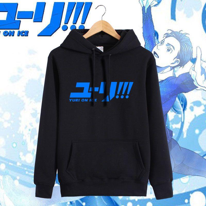 Anime YURI On ICE Katsuki Yuri Nikiforov Coat Hoodie Sweatshirt Tops Jacket