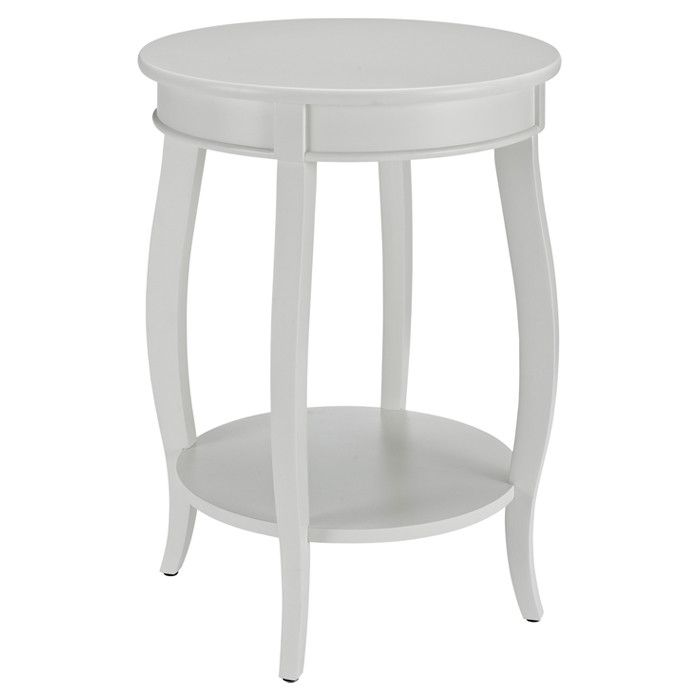 Caspire End Table Round Side Table White Round Tables Round Accent Table