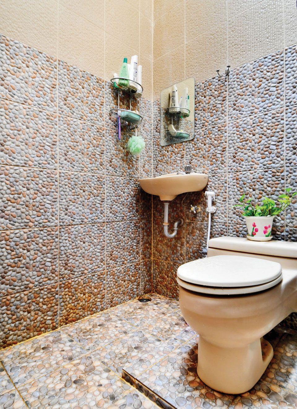 Model Kamar Mandi Minimalis Batu Alam Unik  Mandi, Kamar mandi