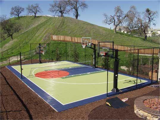Sports Court Backyard Court Basketball Court Backyard Sport Court