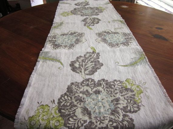 Delicieux Shabby Chic Table Runner, Bureau Scarf, Sage Green Table Runner, Cottage  Style Runner