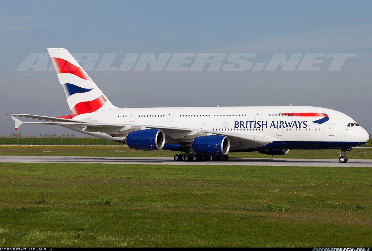 British AIrways FWWSK / GXLEA Airbus A380841 aircraft