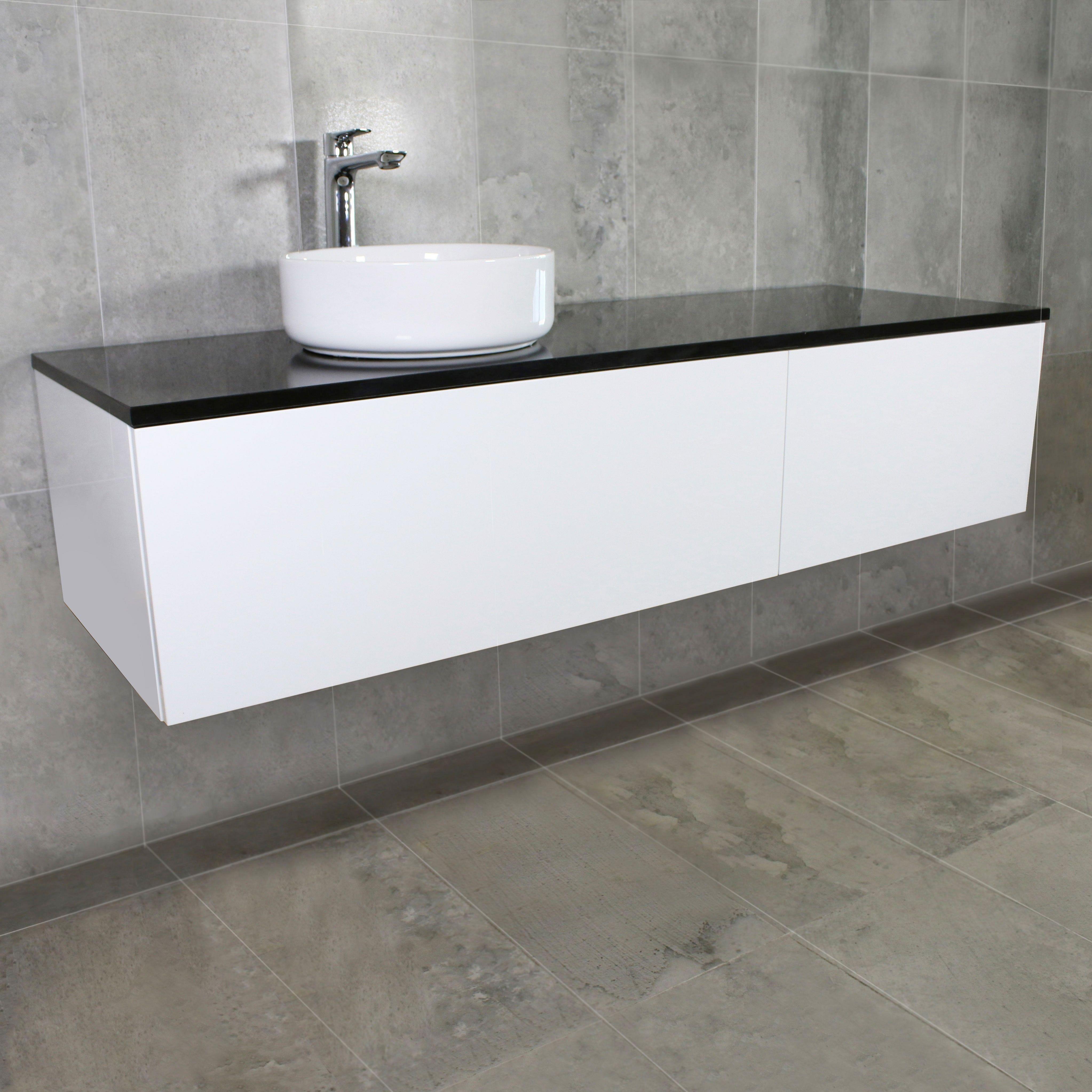 Eden Wall Mount Vanity Cabinet Without Top 1500mm Vanity Cabinet