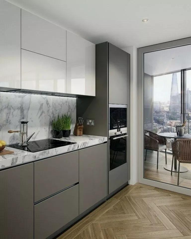 24 Inspiring Modern Scandinavian Kitchen Design Idea Modern Kitchen Cabinet Design Scandinavian Kitchen Design Kitchen Design Small