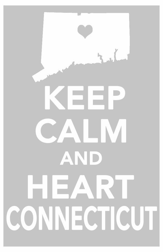 Connecticut keep calm print art poster all 50 by ThePickleShop, $14.99