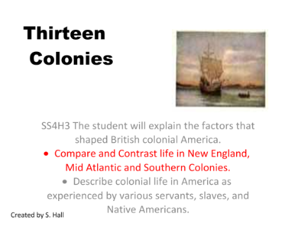 Colonial Life Compare And Contrast Life In New England Mid Atlantic And Southern Colonies Teaching Social Studies Social Studies Social Studies Activities