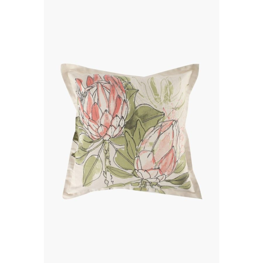 This scatter cushion cover with a stunning floral design is a great