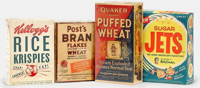 Vintage Kitchen Collectibles Antique Retro Cereal Boxes Kelloggs